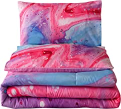 A Nice Night Closure-Printed Marble Ultra Soft Comforter Set Bed-in-a-Bag,Queen Queen Multi