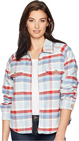 Big Sky Plaid Zip Jacket with Sherpa Lining