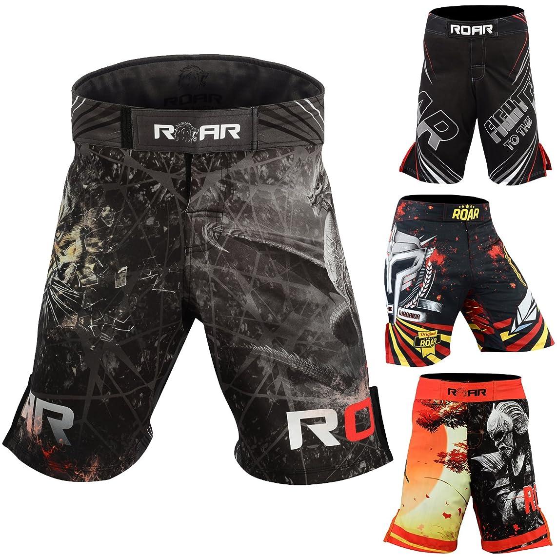 Roar MMA Shorts UFC Cage Fight Grappling Muay Thai Jiu Jitsu Stretch Cross-Training Kickboxing Gear