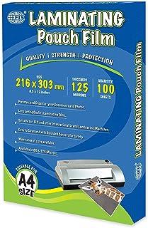 FIS Laminating Films 100 Sheets, 216 x 303 mm, A4 Size, 125 Microns - FSLM216X303N