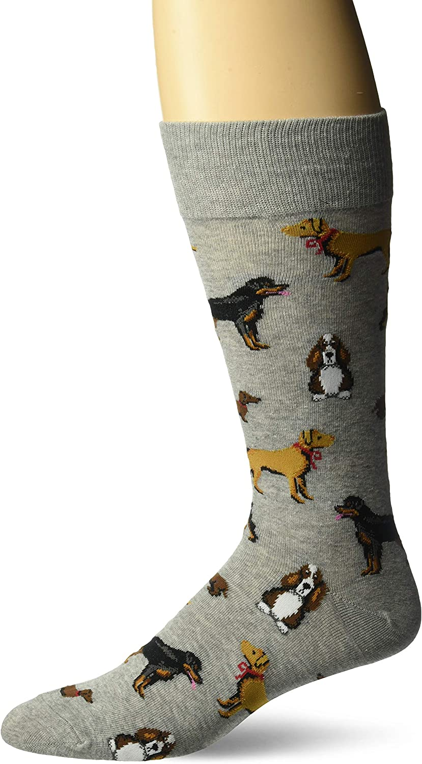 Hot Sox mens Animal Series Novelty Casual Crew Socks