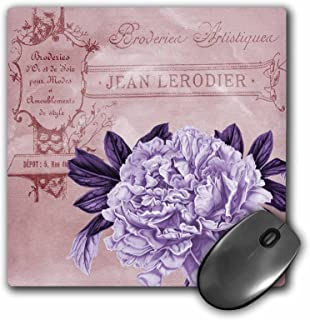 3dRose 8 x 8 x 0 25 Inches French Lilac Peony Floral Mouse Pad (mp_162330_1)