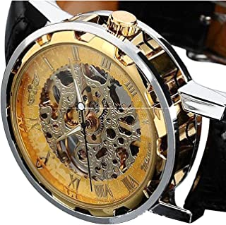 Men's Mechanical Elegant Skeleton Hollow Dial Wrist Watch