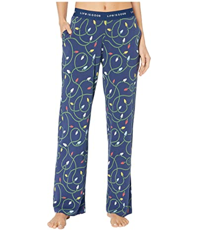 Life is Good Snuggle Up Sleep Pants (Darkest Blue 2) Women
