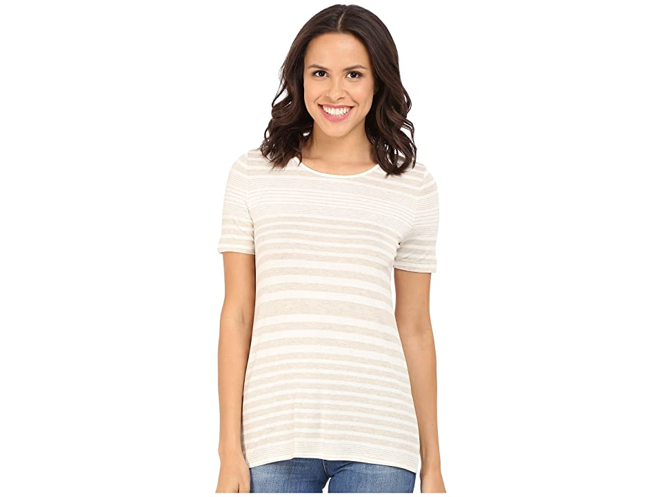 Three Dots Kameko Rolled Sleeve Tee (Natural) Women