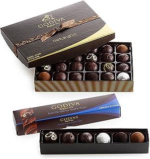 Godiva Chocolatier Assorted Dark Chocolate Truffles Lover Gift Set, 30-Pieces