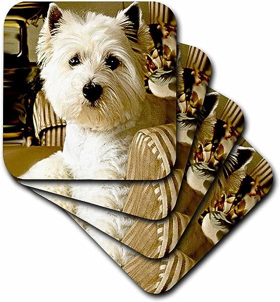 Dogs West Highland Terrier Westie Set Of 4 Ceramic Tile Coasters Cst 609 3
