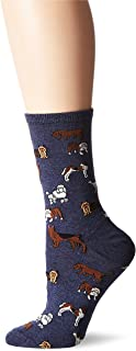 Hot Sox Women's Dog Lover Novelty Casual Crew Socks