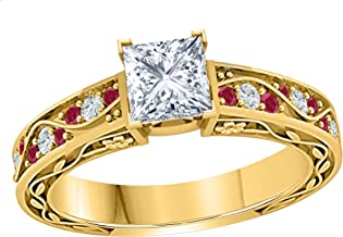 Best 10k yellow gold cz engagement rings Reviews
