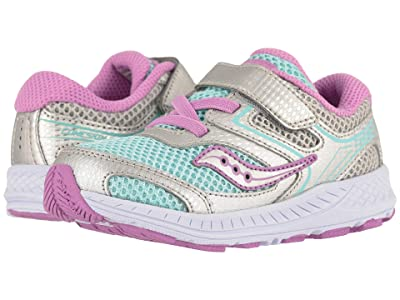 Saucony Kids Cohesion 12 Jr (Toddler) (Turquoise/Silver) Girl