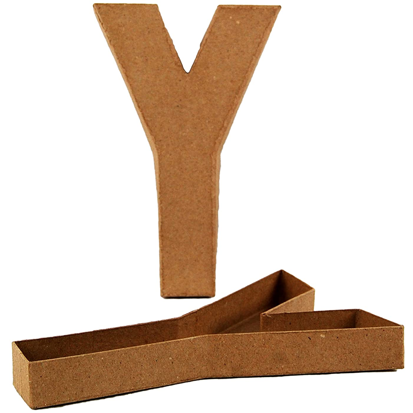 Country Love Crafts 8.25-inch/ 20.5cm Letter Y Shaped Box Papier Mache