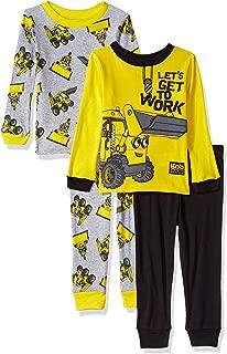 Bob the Builder Boys' Toddler Scoop 4-Piece Cotton Pajama Set