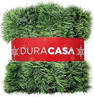 DuraCasa 15m Christmas Garland for Christmas Decorations, Green Non-Lit Soft Holiday Decor for Outdoor or Indoor Use (1)
