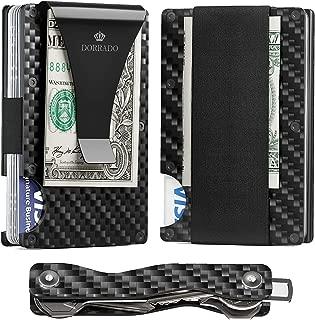 Carbon Fiber Wallet - Key Organizer - Metal Wallet - Minimalist Wallet - RFID Blocking Front Pocket Wallet - Carbon Fiber Money Clip - Card Holder - Key Wallet - Thin Wallet