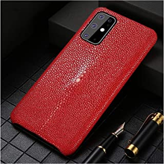 mobilskal Fit For Samsung S20 Plus S20FE S10 S9 S8 Äkta Läderkåpa Passform Fit For Galaxy S20 Ultra Not 9 10 (Color : Red,...