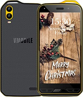 V mobile X6 4G Unlocked Cell Phone RAM 1GB/ROM 16 GB Unlocked Smartphone Compatible with ATT, T-Mobile, Cricket, Metro PCS, Straight Talk Other GSM Carriers (Yellow, 1GB+16GB)
