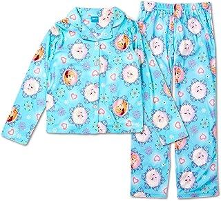 Sizes 4-10 Disney Frozen Fever 2 Piece Girls Pajamas