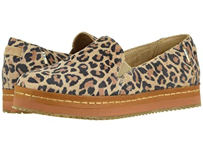 TOMS Palma Leather Wrap (Desert Tan Leopard Print Suede) Women