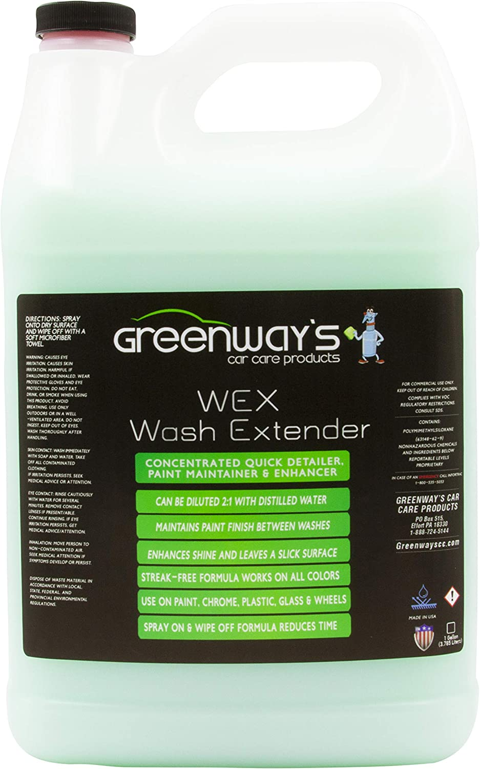 Wex Wash Extender Max 66% OFF New Free Shipping Spray Car Concentrate- Detailer Waterless