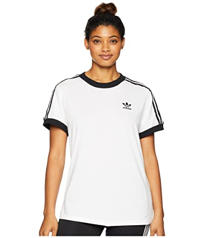 adidas Originals 3 Stripes Tee (White) Women