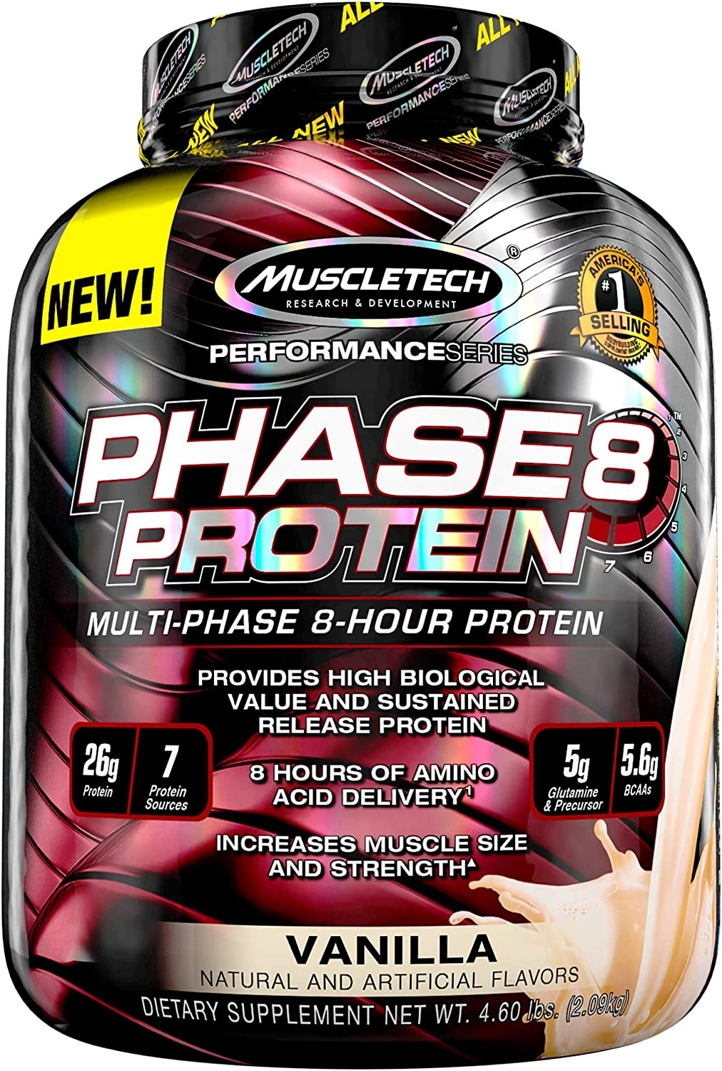 OFFicial shop Whey Protein Powder Nashville-Davidson Mall MuscleTech Phase8