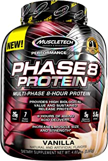Whey Protein Powder   MuscleTech Phase8 Whey Protein   Sustained-Release 8-Hour Protein Shakes for Men & Women   26g of Pr...