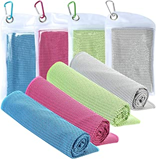 Cooling Towel [4 Pack] Workout Towel Sport Towels Microfiber Towel Fast Drying Super Absorbent Ultra Compact Cooling Towel for Sports Workout Fitness Gym Yoga Pilates Travel & More