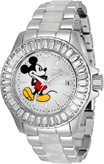 Invicta Woman's 38mm Disney Micky Mouse White Silver Quartz Limited Edition Watch (Model: 33231)