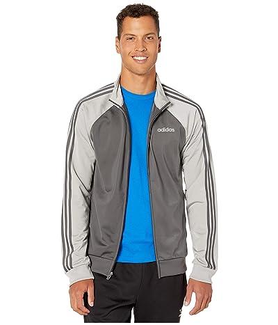 adidas Essentials 3-Stripe Color Block Track Top (Grey Six/Medium Grey Solid Grey/Grey Six) Men
