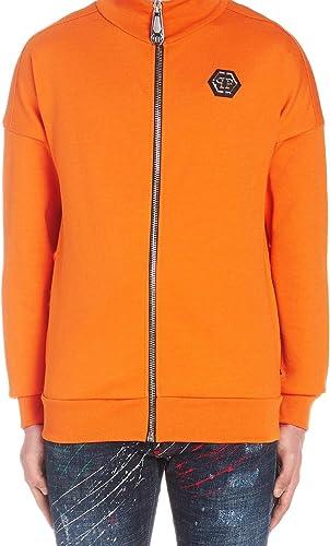 Philipp Plein Luxury mode Homme MJB1100PJO002N20 Orange Sweatshirt   Printemps été 19