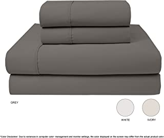 Neo Fresh 600 Thread Count 100% Cotton Sheet - Grey California King Set 4 - Piece Best-Bedding Sheets for Bed Breathable Soft & Silky Sateen Weave Patented - Fitted Sheet Fits up to 18