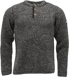 ICEWEAR Markús Classical Icelandic Wool Sweater   Pattern Around Shoulders