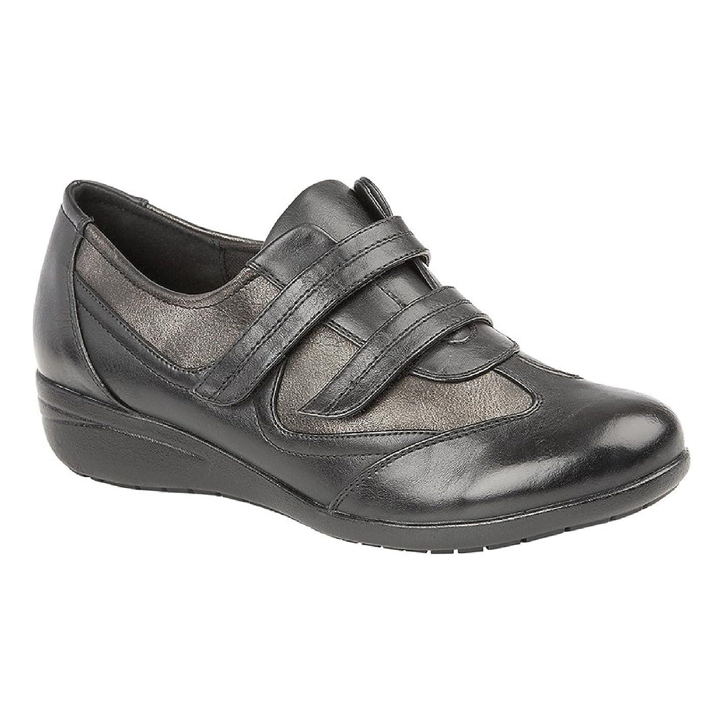 路面電車自分自身許可(ブールバール) Boulevard レディース 面ファスナー留め 快適 パッド入りシューズ 婦人靴 カジュアル 女性用
