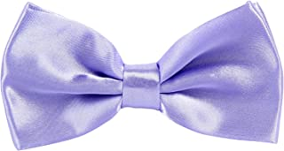 a7fbe0dcf051 CellDeal New Mens Pure Plain Bowtie Polyester Pre Tied Wedding Party Bow Tie