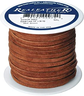 LOT One Yard VINTAGE MEDIUM COCOA BROWN GENUINE LEATHER ¼ Inch CORD TRIM EDGING
