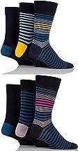 Mens 6 Pair SockShop Comfort Cuff Plain Bamboo Socks - Mixed