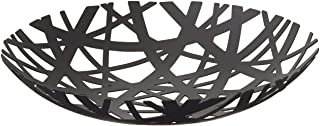 Red Co. Decorative Centerpiece Bowl in Black - Powder-Coated Steel