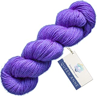 Living Dreams Queen Anne LACE Yarn. Luxuriously Soft Baby Alpaca Silk USA Hand Dyed. Tanzanite