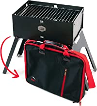 Portable Charcoal Grill Gizzo, Camping Grilling, Foldable, Tailgate, Small Compact BBQ Gadget, Patio, Picnic