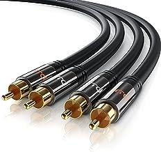 Primewire - 1,5m HQ Audio Cable - 2X Conectores RCA Macho a 2X Conectores RCA Macho - Conector metálico de precisión - Serie