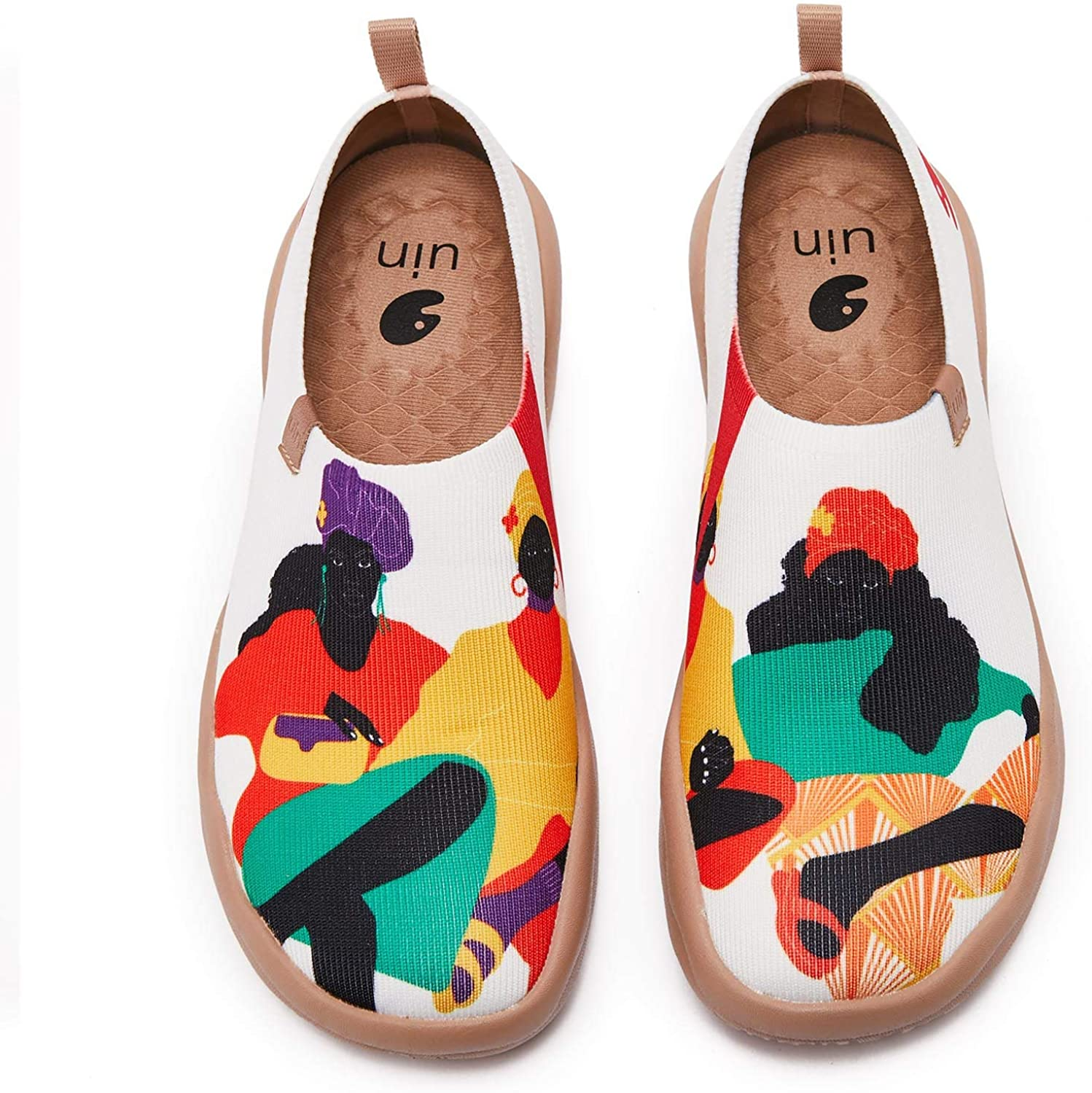 Virginia Beach Mall UIN Women's Painted Canvas Fashion Slip-on Wanderin Max 60% OFF Travel Shoes