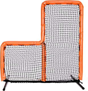 Armor Series Pitching Screen Baseball Net. Voted Best L Screen Pitching Net for Batting Cage and On Field Use. This 7 x 7 Protective Screen is The Perfect Baseball L Screen. Orange