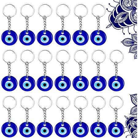 boho charms A4D 6 x Round Enamel Evil Eye Charms small round Turkish charms
