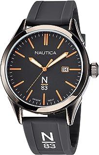 Nautica Men's Quartz Silicone Strap, Gray, 20 Casual Watch (Model: NAPHBF119)