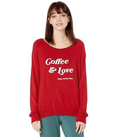 good hYOUman Chelsea Coffee Love Sweatshirt (Lychee) Women