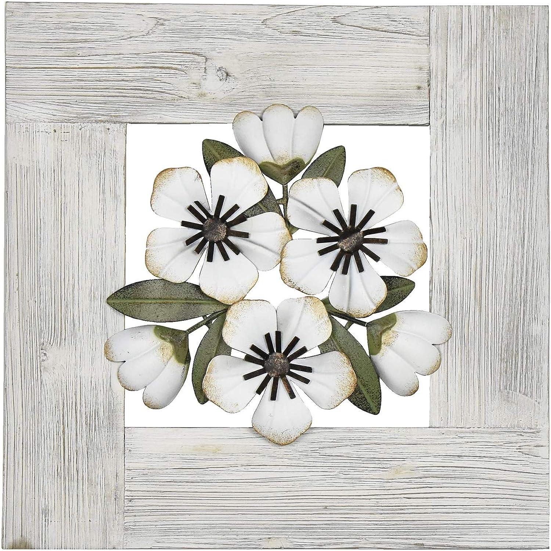 Habitat Cara Framed Metal Decorative Wall Art, White & Off-White