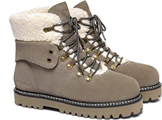Ever UGG Ladies Leather Lace-up Boots Nala #321023