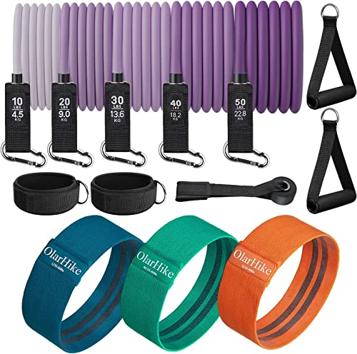 2021 5 Resistance Bands lowest with Handles and 3 Resistance Bands outlet online sale for Legs,Bundle sale
