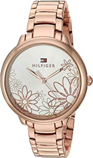 Tommy Hilfiger Women's Quartz Watch with Strap, Rose Gold, 15 (Model: 1781780)