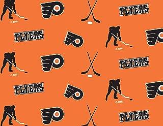 Philadelphia Flyers Fleece Blanket Fabric All Over Design-Sold by The Yard